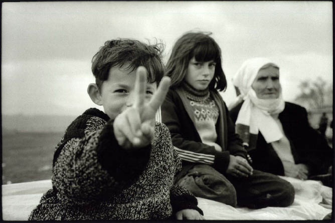 Kosovan refugees in Kukes, northern Albania