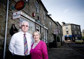 Linda and Stephen Reynolds, Hawes Post Office
