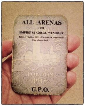 1948 Olympic stadium pass