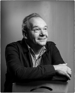 Writer John O'Farrell at Sheffield Hallam University for Off the Shelf