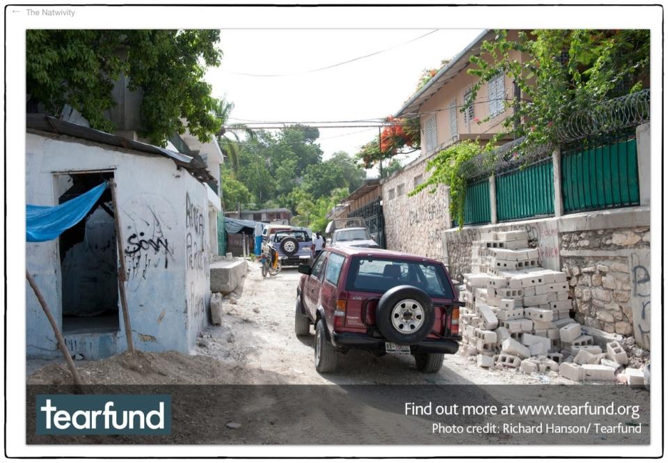 Natwivity 2012 ::  Haiti, 2010 :: photo Richard Hanson/Tearfund