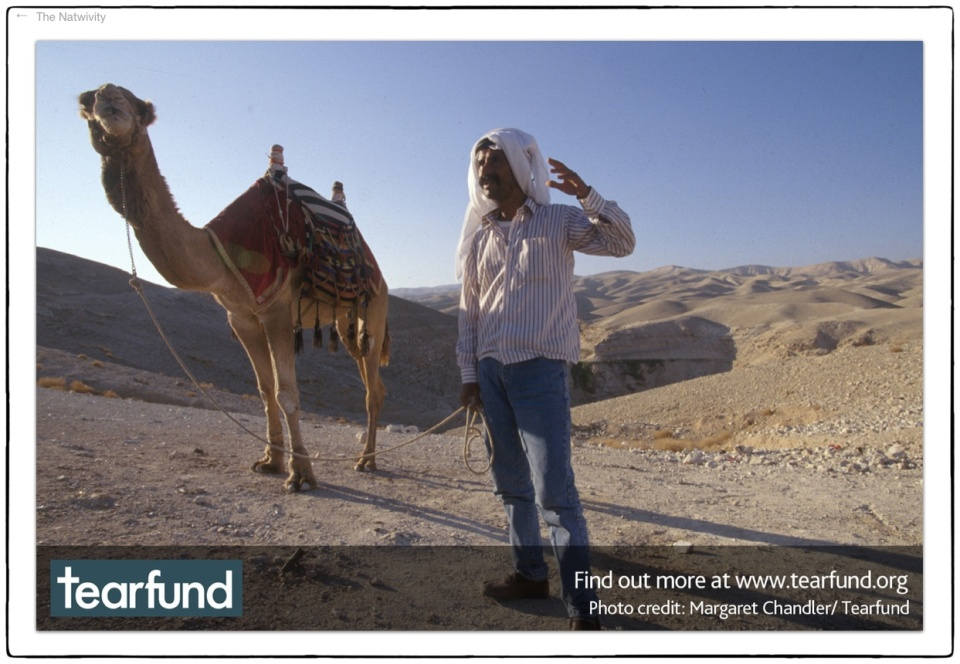 Natwivity 2012 ::  West Bank, 1997 :: photo Richard Hanson/Tearfund (and not as credited on the pic here!)