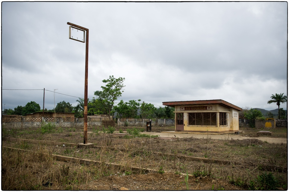Disused petrol station, Mouyondzi, Congo, October 2012 :: copyright Richard Hanson for Bible Society