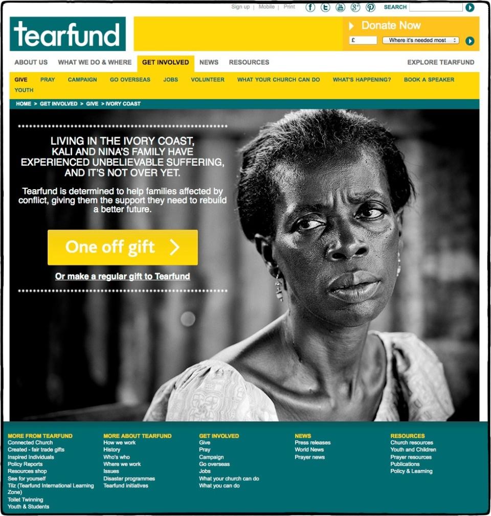 Ivory Coast, 2012 :: photo Richard Hanson for Tearfund
